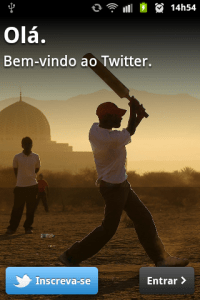 twitter para android tela inicial