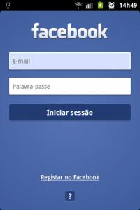 facebook tela inicial