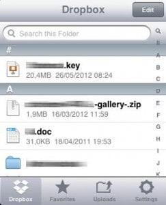 Arquivos, Favoritos, Uploads e Configurações.