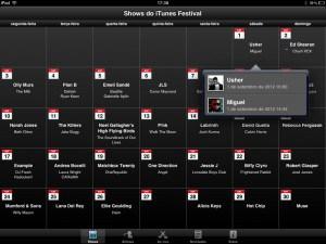 Calendário do iTunes Festival London 2012