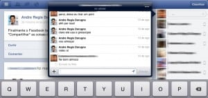 Chat no Facebook do iPad