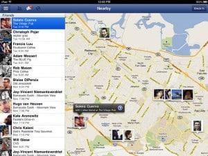 Imediações no Facebook para iPad
