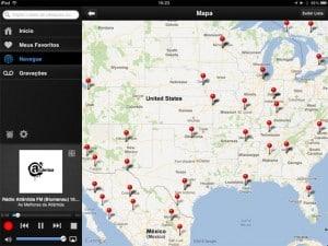 TuneIn Pro mapa