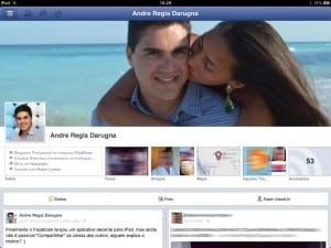 Timeline do Facebook no iPad