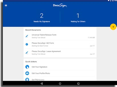 DocuSign app