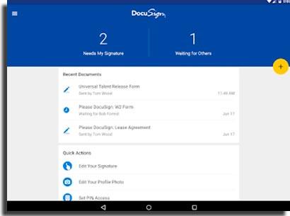 DocuSign app