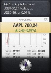 Ações da Apple valem 700 dólares