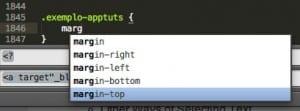 Auto completar para facilitar a edição de código