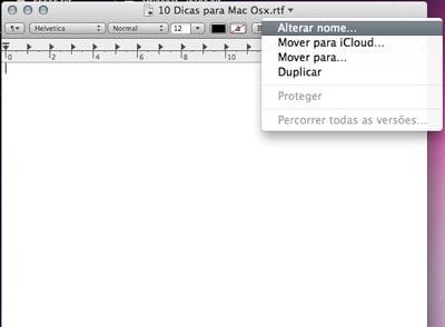 truques do Mac OSX renomear e mover