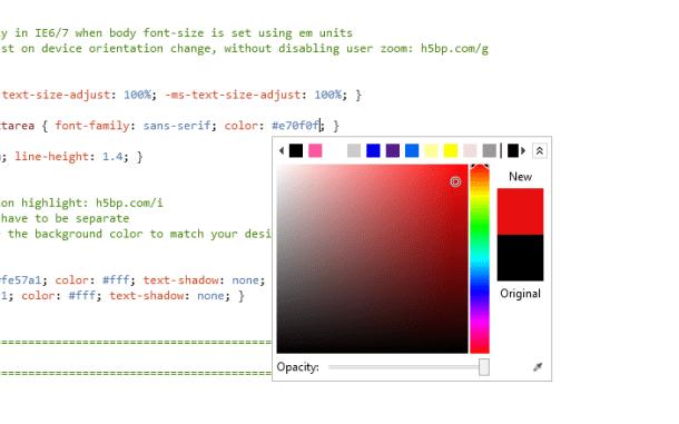 O selectores de cores simplifica a escolha de códigos RGB