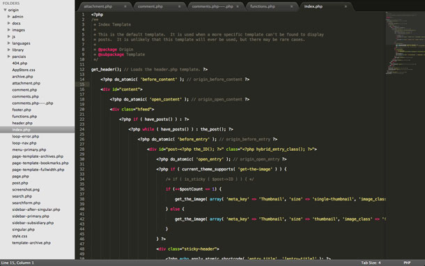Tela Sublime Text 2