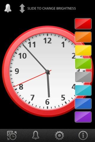 Exemplo de um relógio do Clock