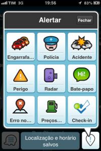 Waze GPS configurações
