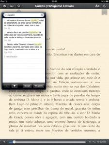 Kindle - busca por palavras