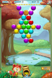 bubble shooter gameplay