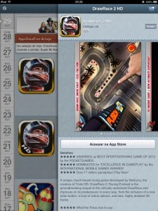 Detalhes do aplicativo no AppsGoneFree do iPad