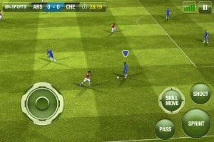 In-game do Fifa 13 para iPhone e iPad