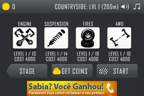 hill climb racing inicio nivel