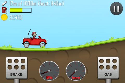 hill climb racing jogando