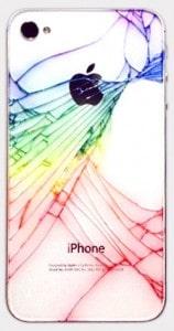 iPhone 4S com a traseira de vidro quebrada