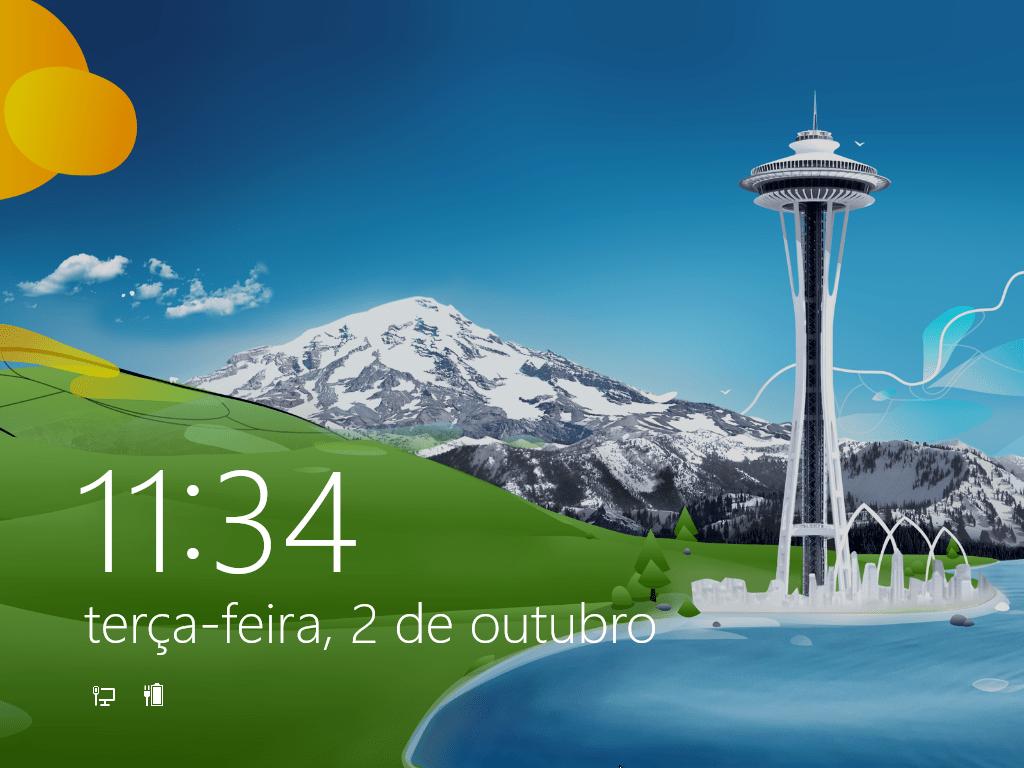 Ecrã Lock do Windows 8