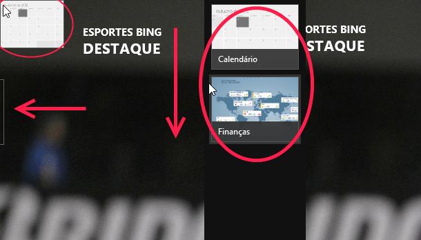 tela do PC aplicativos recentes