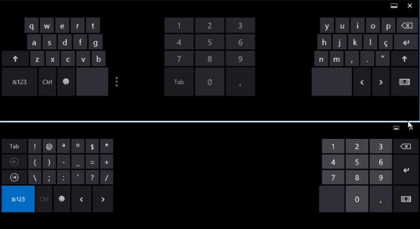 teclado touch configuração