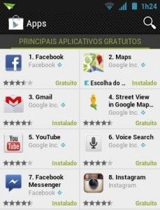 Principais aplicativos gratuitos