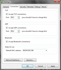unified remote configurando