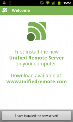unified remote inicial