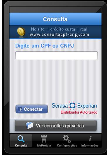 aplicativo consulta cpf cnpj