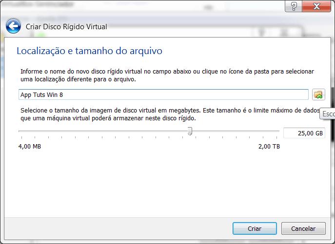 Windows 8 no Virtual Box máquina virtual