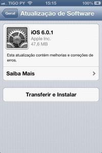 Atualize seu iPhone e iPad ao iOS 6.0.1