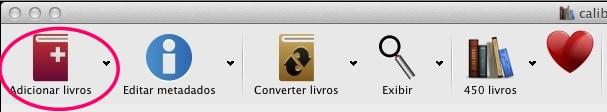 Calibre - adicionando arquivos