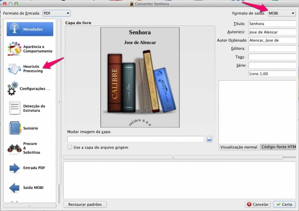 Como converter ebooks conversão do livro