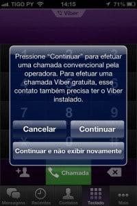 Realizar chamadas pelo Viber