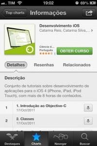 iTunesU - exemplo de curso