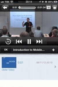 iTunesU - assistindo um curso