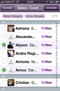 Iniciar uma conversa utilizando o Viber