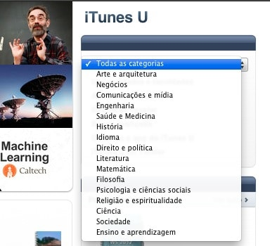 iTunes U - menu