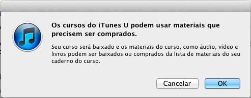 iTunes U - confirmação