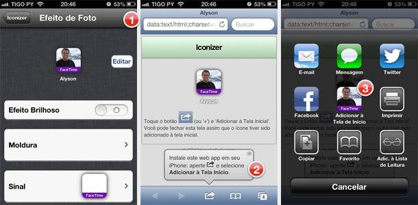 Passo-a-passo para a criação de um ícone personalizado no Iconizer do iPhone