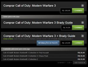 preços no Steam em reais