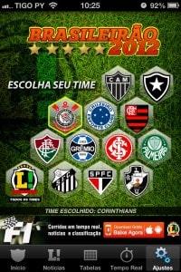 Escolha do time favorito no Lance Brasileirao