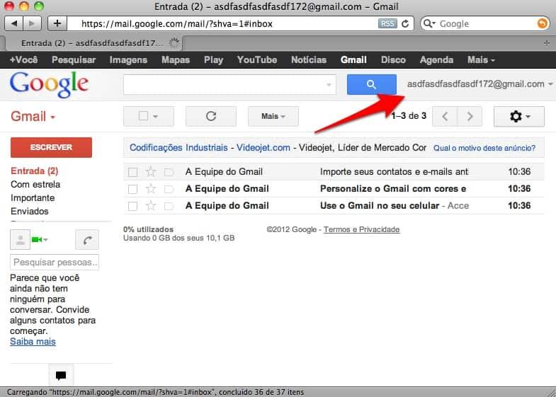 criar um e-mail do Gmail dicas