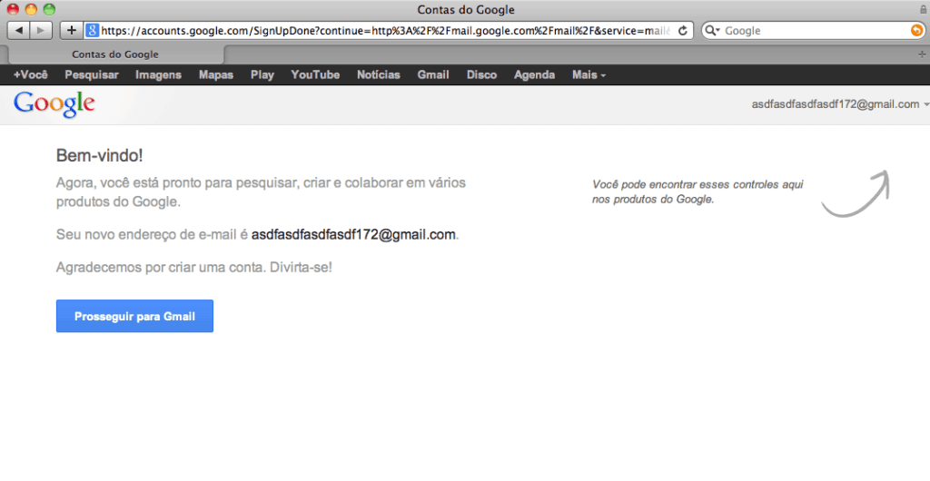 criar um e-mail do Gmail guia