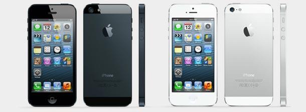 iPhone 5 disponível em duas cores.