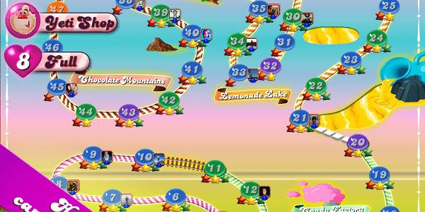 Candy Crush é uma excelente opção para passar o tempo e parece