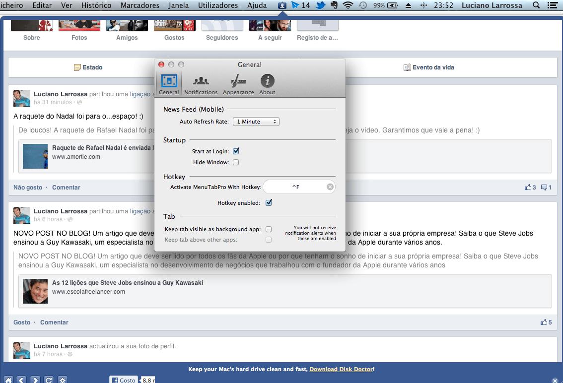MenuTab for Facebook review