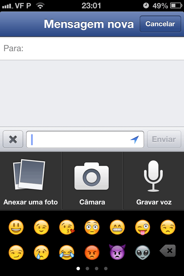Facebook voz para iOS